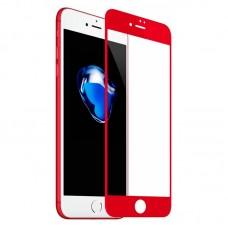 Защитное стекло Apple iPhone 7 5D (Красное)