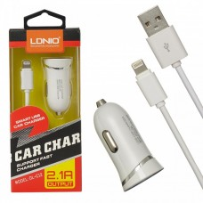 АЗУ LDNIO Apple Lightning 8 pin (2,1A) DL-C12