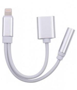 Переходник - адаптер Walker iPhone №02 (2 в 1 ) Двойник наушник + зарядка