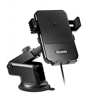 Держатель с Беспроводной зарядкой Olmio Robo QLS (10W) автомоБильный для смартфонов