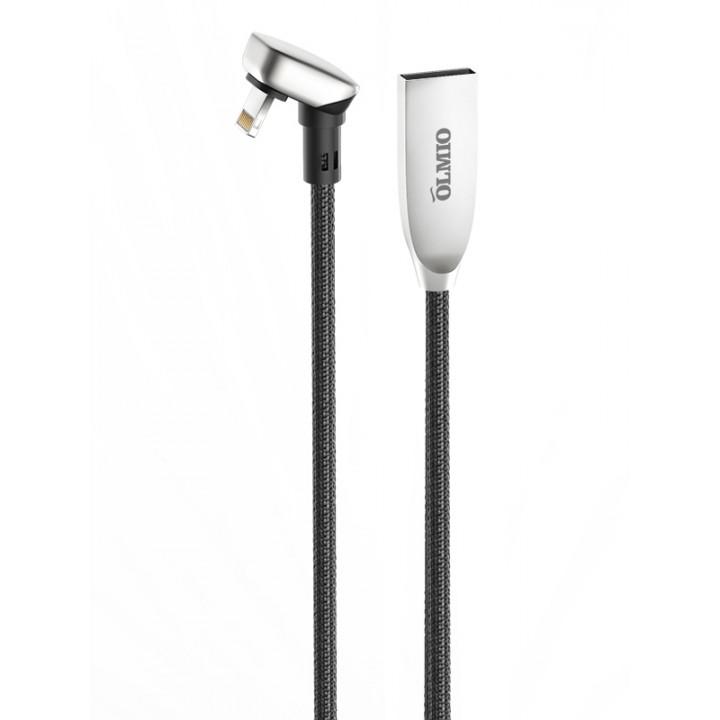 КаБель Apple Lightning 8 pin Olmio X-Game (1,2м 2,1A) Черный