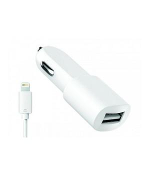 АвтомоБильное зарядное устройство Olmio + каБель lightning 8 pin (1,2A)