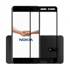 Защитное стекло Nokia 2.1 Полный экран (Черное)