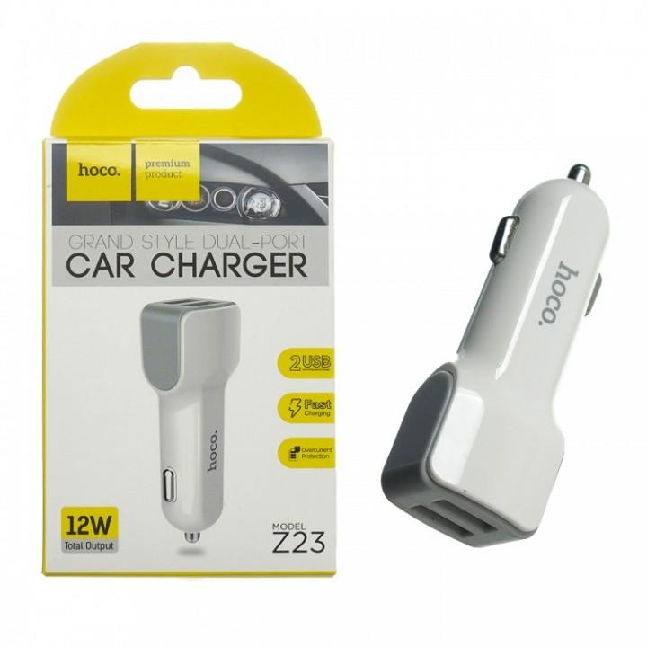 АвтомоБильное Зарядное Устройство с 2 USB (2,4A) Hoco Z23 Grand Style