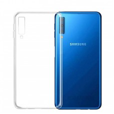 Крышка Samsung A7 2018 (A750) Силикон Vrn (Прозрачный)