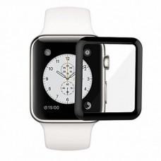Защитное стекло Apple Watch 38mm 5D Полный Экран (Черное)