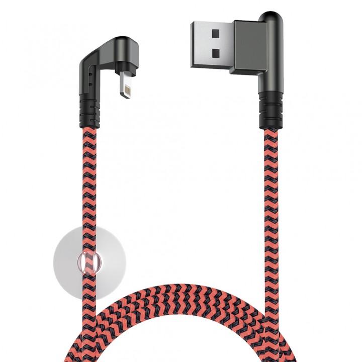КаБель Apple Lightning 8 pin Olmio X-Game NEO (1м 2,1A) Игровой угловой