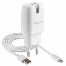 Сетевое Зарядное Устройство Walker + каБель Apple Lightning 8 pin (1A)