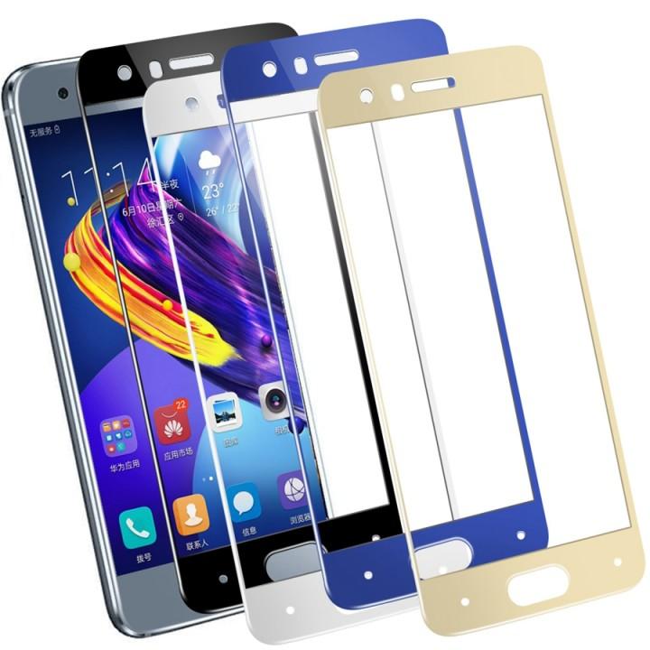 Защитное стекло Huawei Honor 7A Pro / 7C / Y6 2018 / Y6 Prime 2018 Полный экран (Синее)
