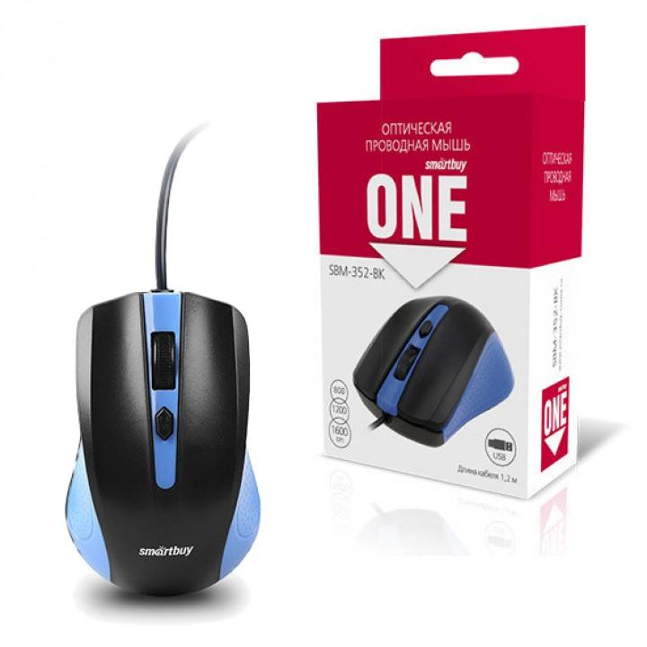 Мышь проводная Smartbuy SBM-352 One (1600 Dpi, 4 кнопки)