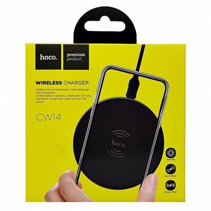Беспроводная зарядка Hoco CW14 Round Wireless Charger (10W)