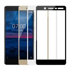 Защитное стекло Nokia 3.1Plus Полный экран (Черное)