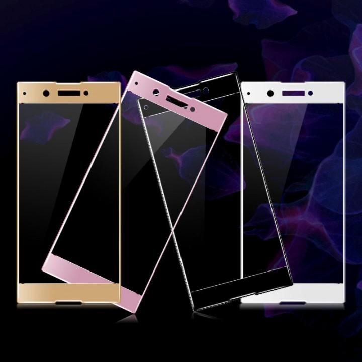 Защитное стекло Sony Xperia XA1 (G3112) Полный экран (Черное)