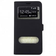 Чехол-книжка Samsung J106f (J1 Mini Prime) Lago New (Черный)