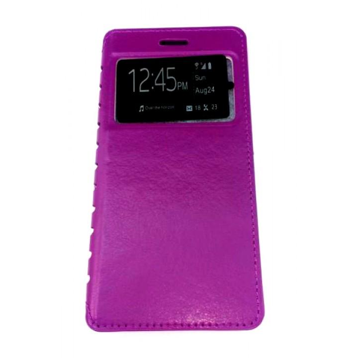 Чехол-книжка Samsung A500f (A5) COMK Бок (Фиолетовый)