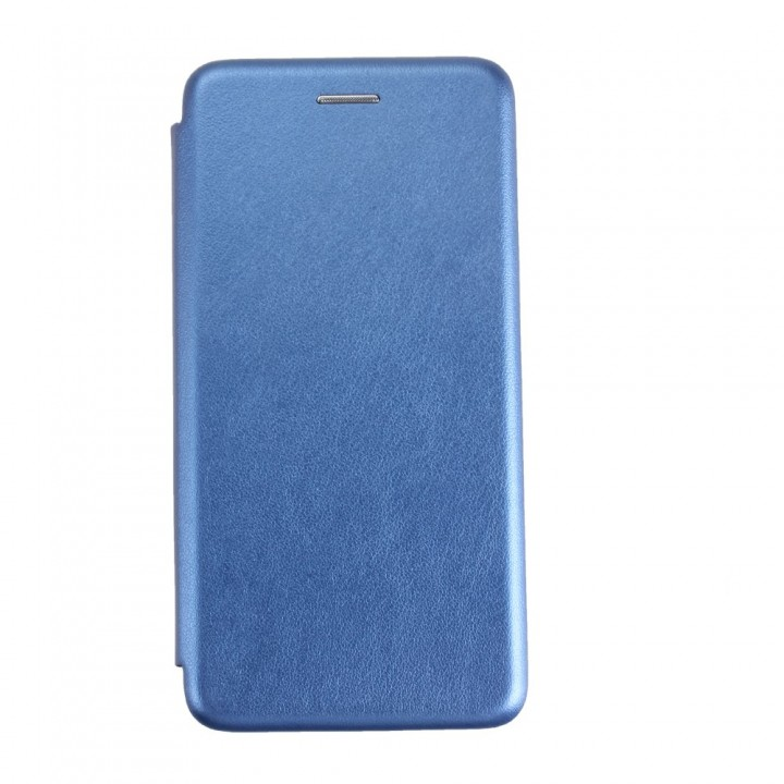 Чехол-книжка Xiaomi RedMi Note7 Бок Круглые Края (Синяя)