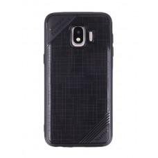 Крышка Samsung J2 Core 2018 (J260) Текстиль 2 (Черная)