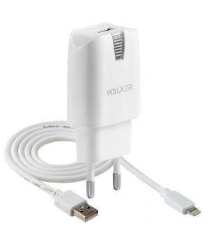Сетевое Зарядное Устройство Walker + каБель Apple Lightning 8 pin (2A)