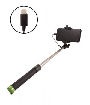 Монопод - Селфи палка с проводом Apple lightning 8 pin