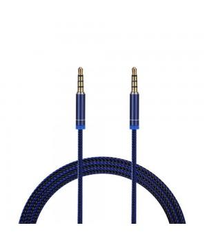 Аудио каБель 1 метр Breaking Нейлоновый (Синий)