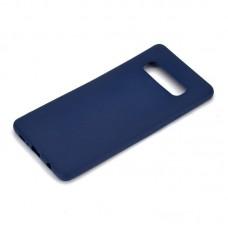 Крышка Samsung S10e (2019) Breaking Soft Touch (Синяя)