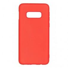 Крышка Samsung S10e (2019) Breaking Soft Touch (Красная)