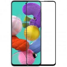 Защитное стекло Samsung A51 / M31S Полный экран (Черное)