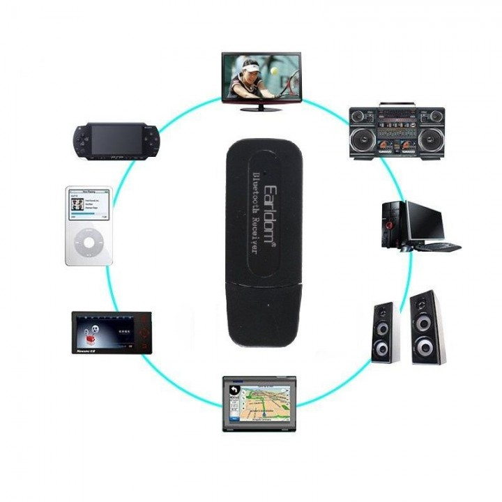 Bluetooth Аудио Приемник Earldom ET-M22 (3,5mm+Usb)