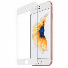 Защитное стекло Apple iPhone 8 6D (Белое)