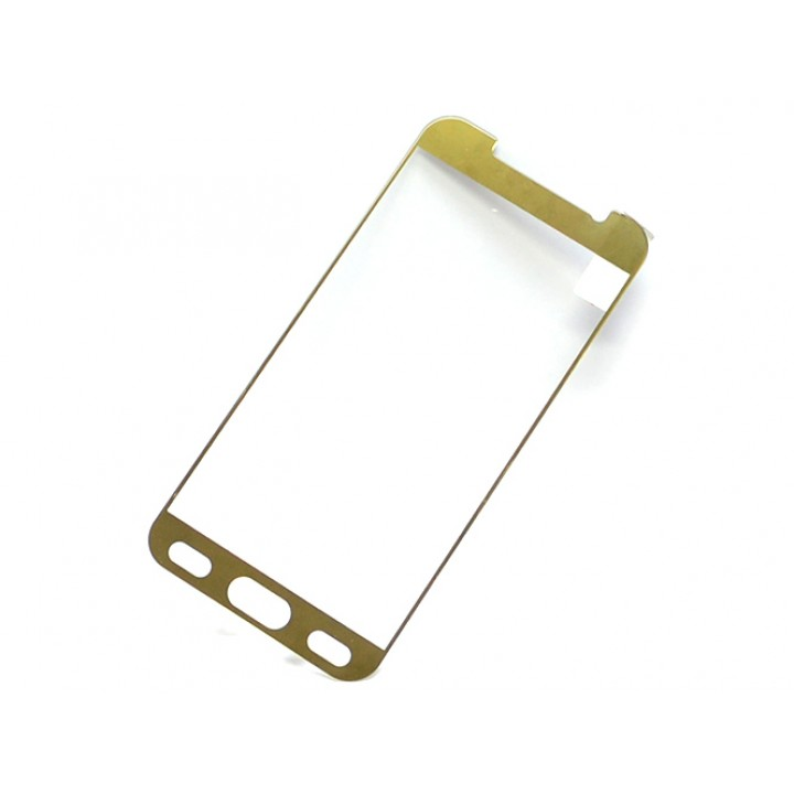 Защитное стекло Samsung G920 (Galaxy S6) Полный экран (Золотое)