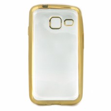 Крышка Samsung J327t (J3 Prime) С краями металлик (Золотая)