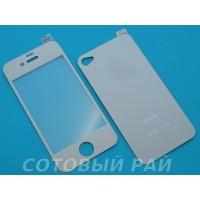 Защитное стекло Apple iPhone 6 Зеркало с Блестками (Серое) (Перед+Зад)