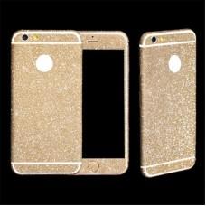 Наклейка Apple iPhone 5/5S Алмазные Блеск на 2 стороны (Темно-Золотой)