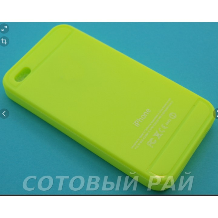 Крышка Apple iPhone 6 / 6s Силиконовая Paik (Желтый)