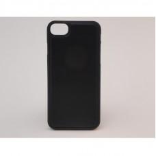 Крышка Apple iPhone 7 Кожа с прострочкой (Черный)