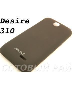 Крышка HTC Desire 310 (V1) Jekod пластик Черная