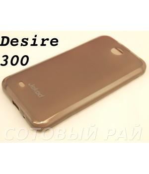 Крышка HTC Desire 300 (Zara Mini) Jekod силикон (Серая)