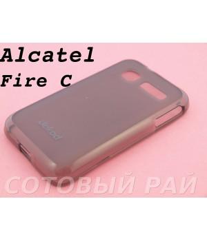 Крышка Alcatel One Touch Fire C 4019X Jekod силикон (Серая)