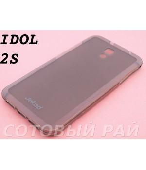 Крышка Alcatel One Touch Idol 2S 6050Y Jekod силикон (Серая)