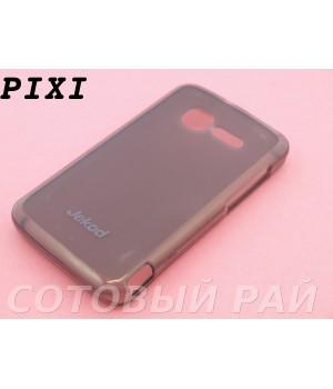 Крышка Alcatel One Touch Pixi 4007D Jekod силикон (Серая)