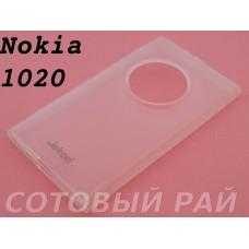 Крышка Nokia 1020 Lumia Jekod силикон (Белая)