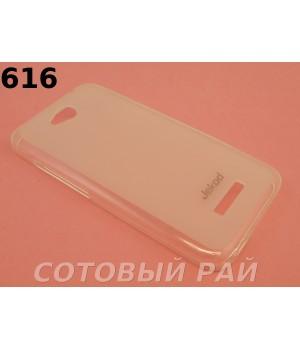 Крышка HTC Desire 616 Jekod силикон (Белая)