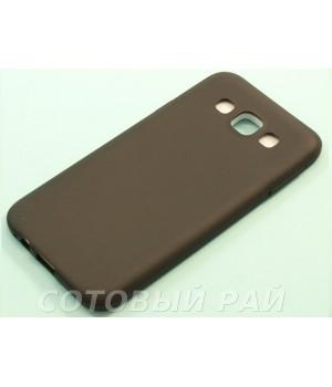 Крышка Samsung E5 (E500h) Силикон Paik (Черная)