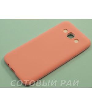 Крышка Samsung E5 (E500h) Силикон Paik (Розовая)