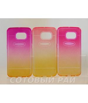 Крышка Samsung G925f (S6 Edge) Силикон (Разноцветная)