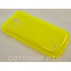 Крышка Samsung i9190 (S4 Mini) Just Slim Силикон (Желтый)