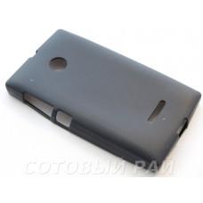Крышка Nokia 435/532 Microsoft Just Силикон (Черная)