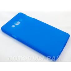 Крышка Samsung A700f (A7) Just Силикон (Синяя)