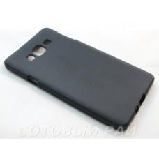 Крышка Samsung A700f (A7) Just Силикон (Черная)