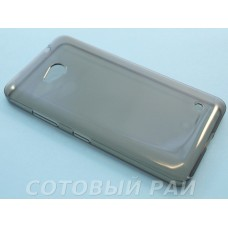 Крышка Nokia 640 Microsoft Just Slim Силикон (Серая)